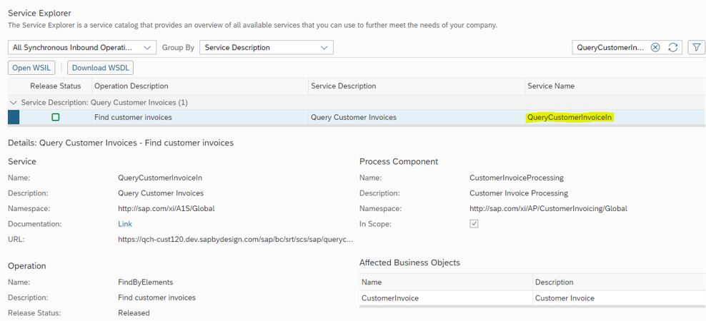 EInvoicing Integration With SAP ByDesign SAP Blogs - Open invoice customer service