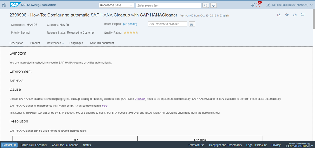 HANA Housekeeping using HANACleaner | SAP Blogs