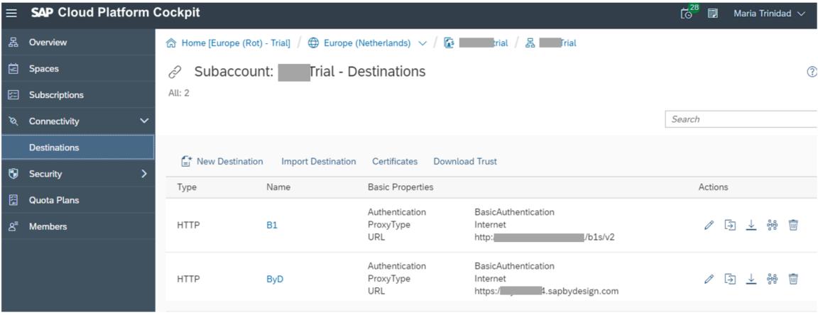 Call SAP Cloud Platform destinations from your Node js application