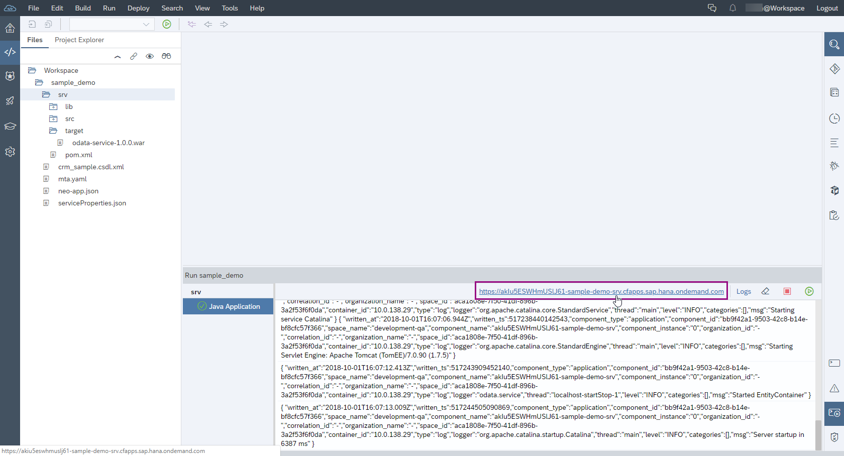 Guide to easily create and deploy an OData Service using our new