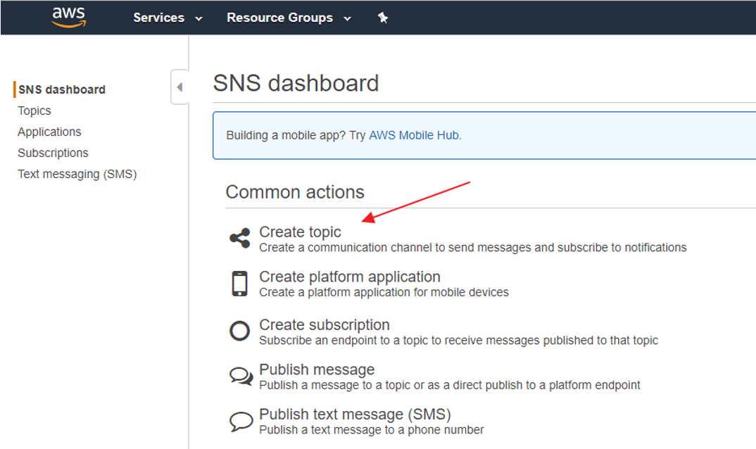 Proof of Concept: SAPUI5 application using AWS SNS service