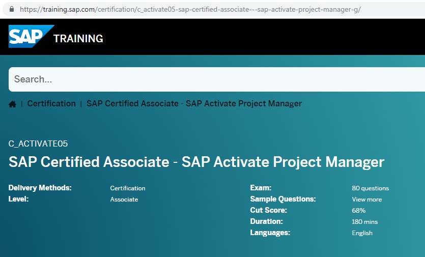 "Earning ""SAP Activate Project Manager"" Certification 