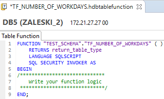 Table Functions in SAP HANA – step by step guide | SAP Blogs