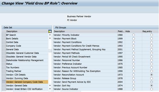 Configuring Business Partner (Vendor) in S/4 Hana for New