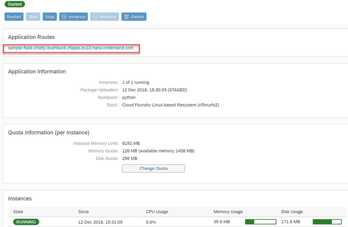 Create simple Flask REST API using Cloud Foundry | SAP Blogs