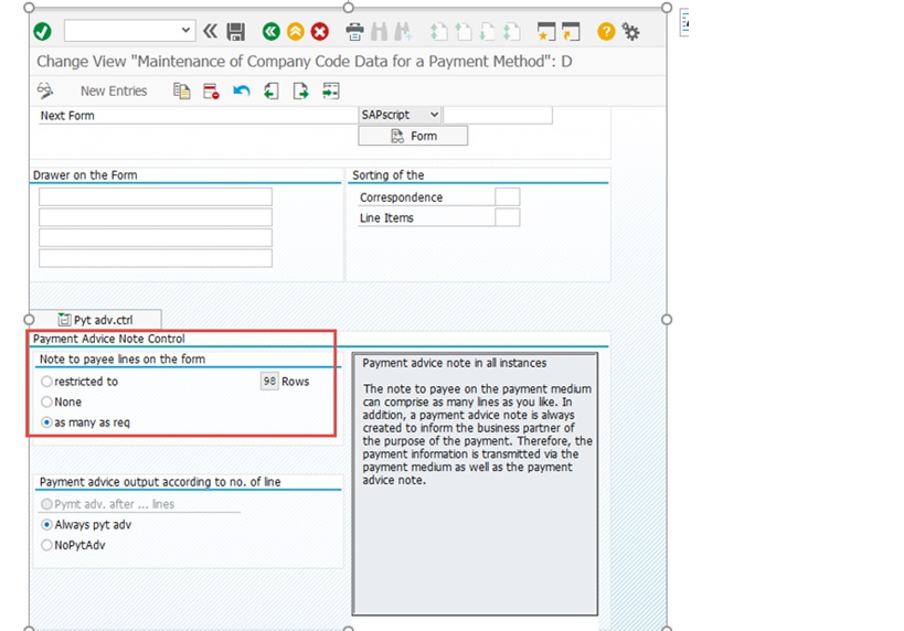 Payment Advice To Vendor In Sap