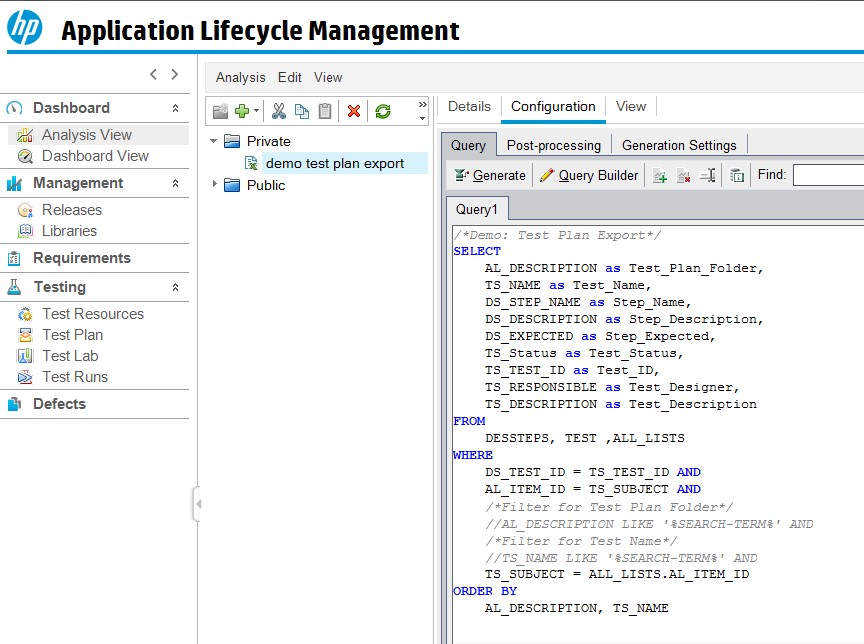 Transfer test cases from Micro Focus ALM to SAP Solution Manager