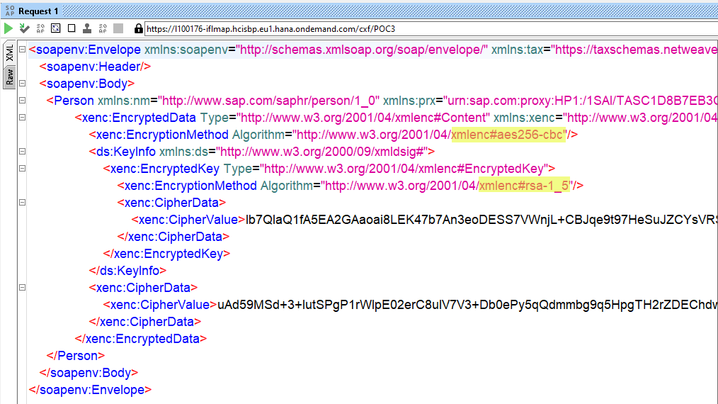 How to encrypt/decrypt XML payload with AES256-CBC and RSA