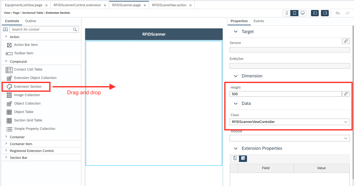 Customize SAP Asset Manager for iOS with An MDK Extension Control