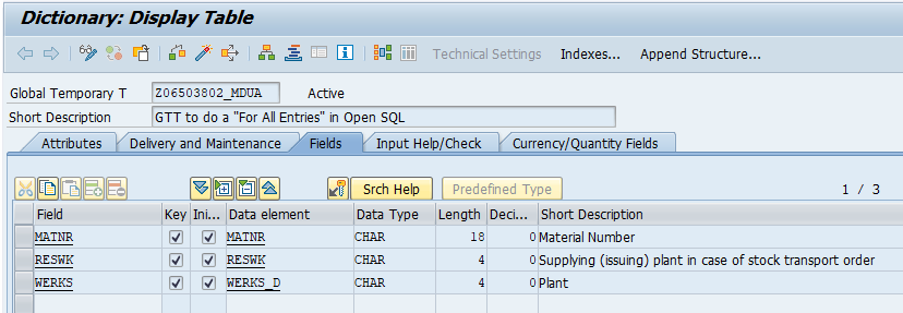 For All Entries, GTT and OPEN SQL | SAP Blogs