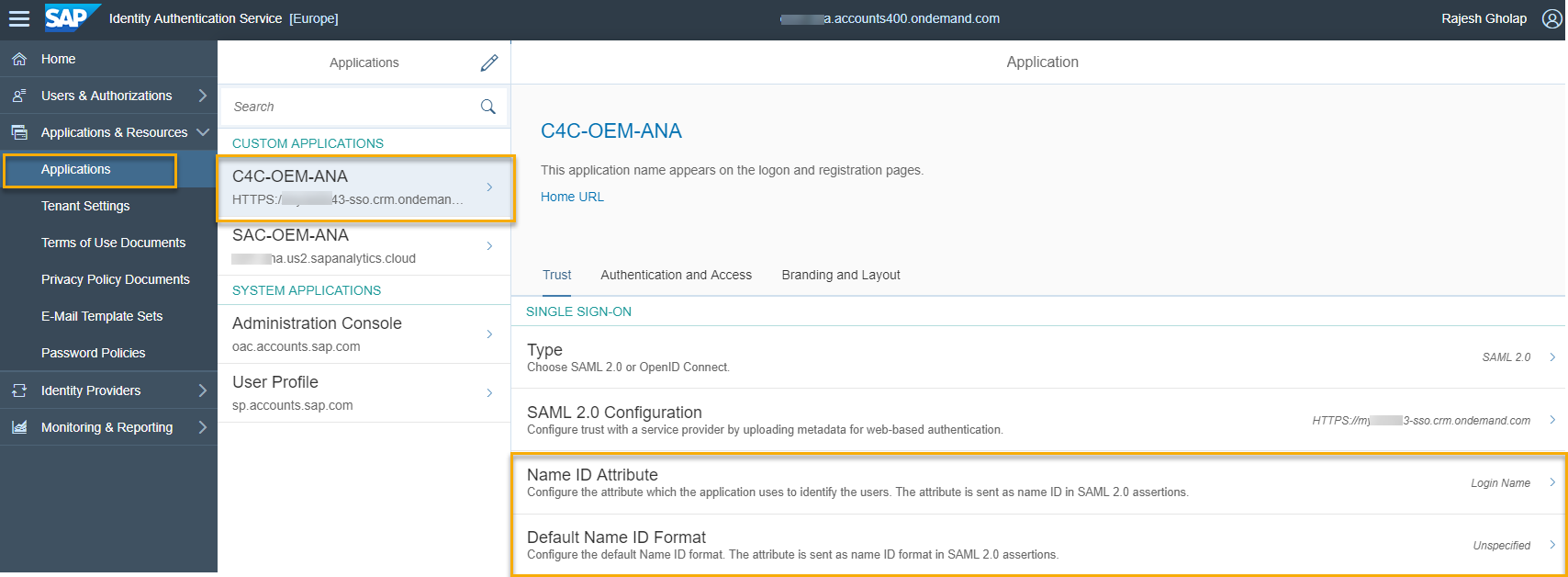 How to integrate SAP Cloud for Customer (C4C) with SAP Analytic