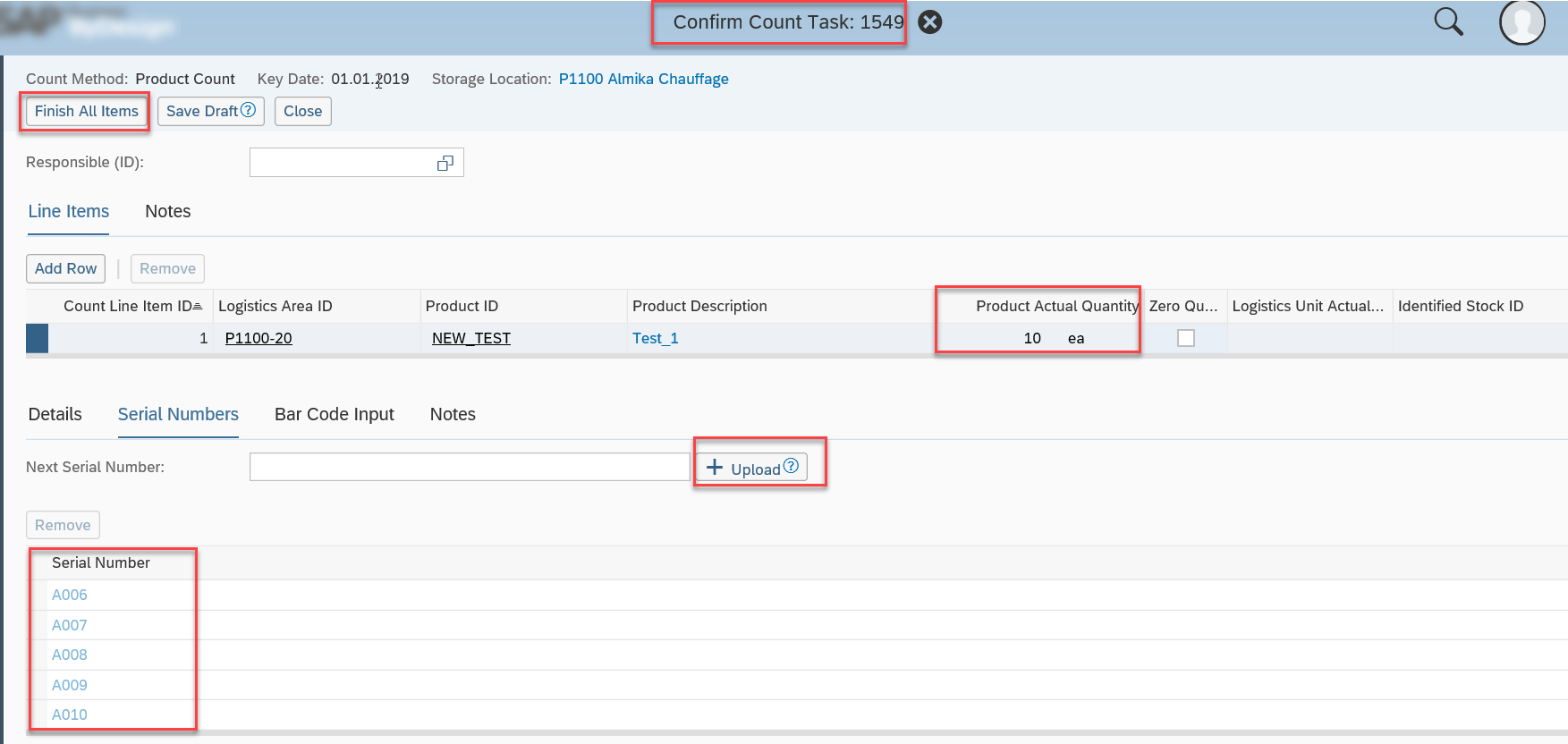 How new serial number profile works in SAP Business ByDesign