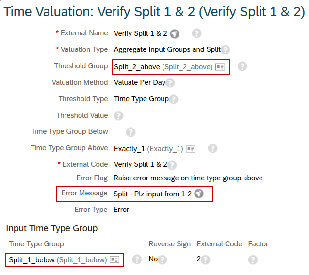 EC – Time Sheet – How to check min max by Time Valuation