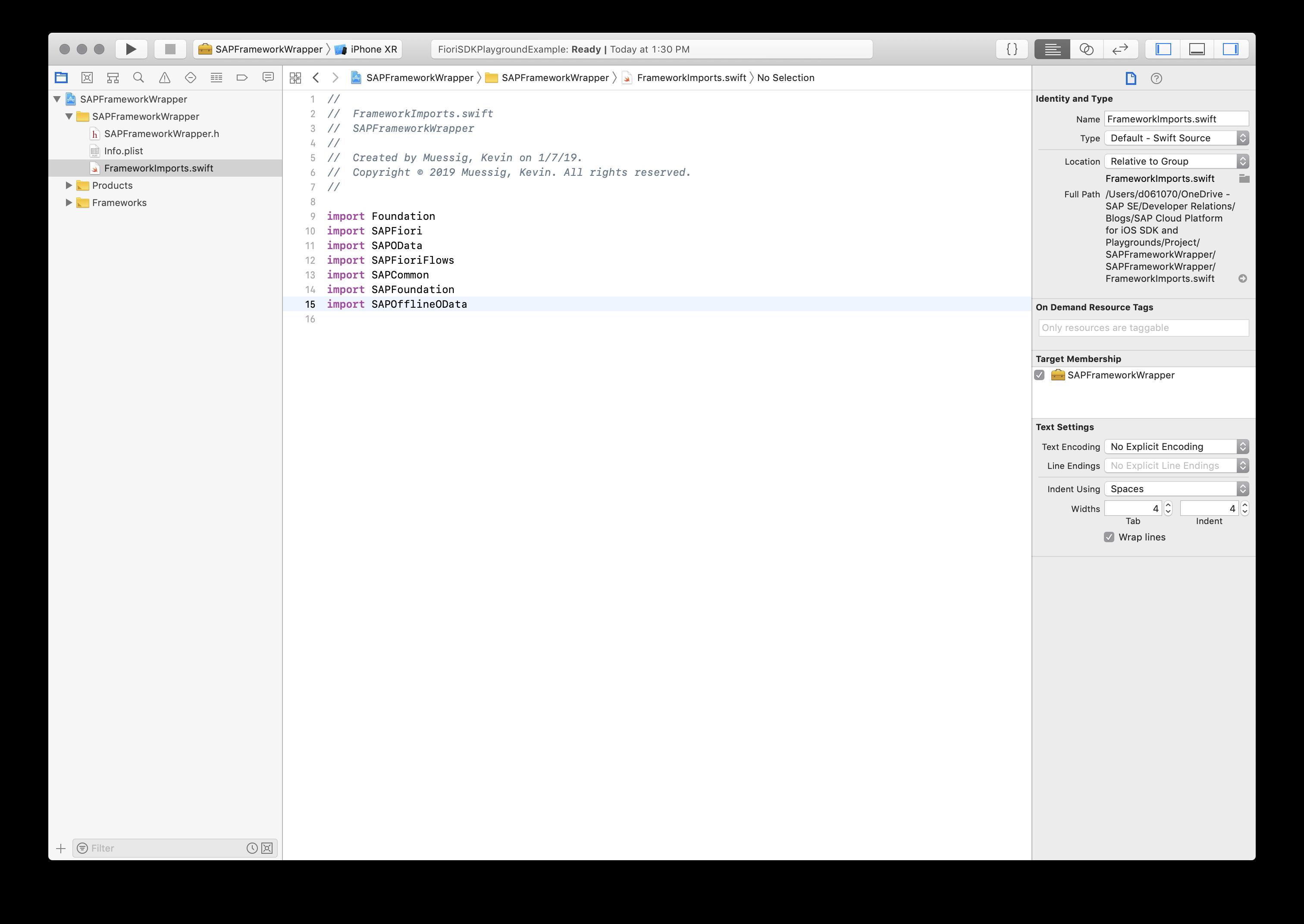 SAP Cloud Platform SDK for iOS and Xcode Playgrounds | SAP Blogs