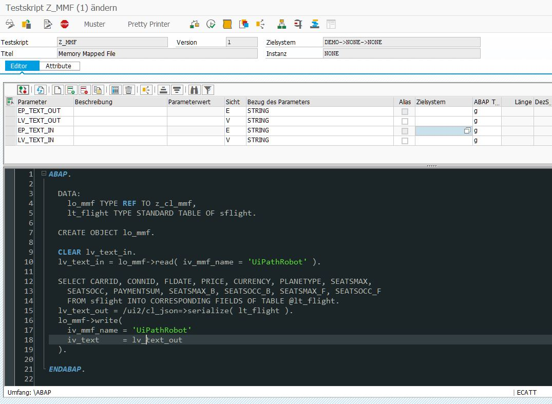Tip: How to use Memory Mapped Files with ABAP/eCATT | SAP Blogs