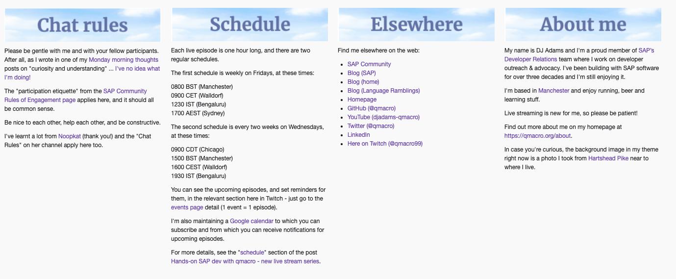 Hands-on SAP dev with qmacro \u2013 new live stream series | SAP Blogs