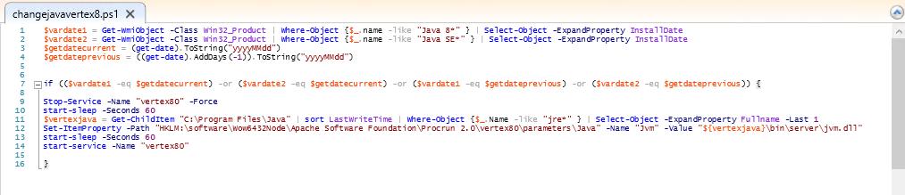 Vertex V8 Windows Server Java Update Tomcat Start-Up Issues after