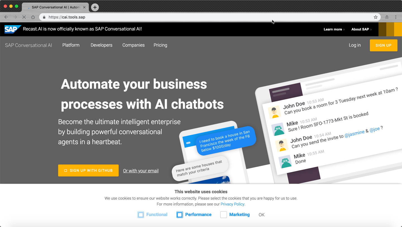 Create your First bot using SAP Conversational AI | SAP Blogs