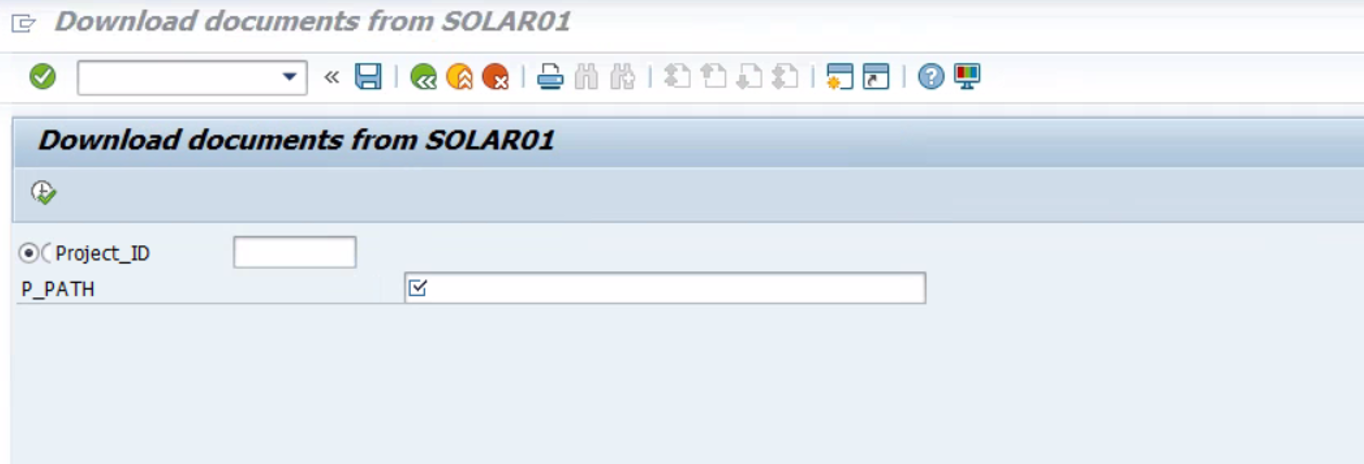 Mass download of documents from SOLAR01 by using custom ABAP Report