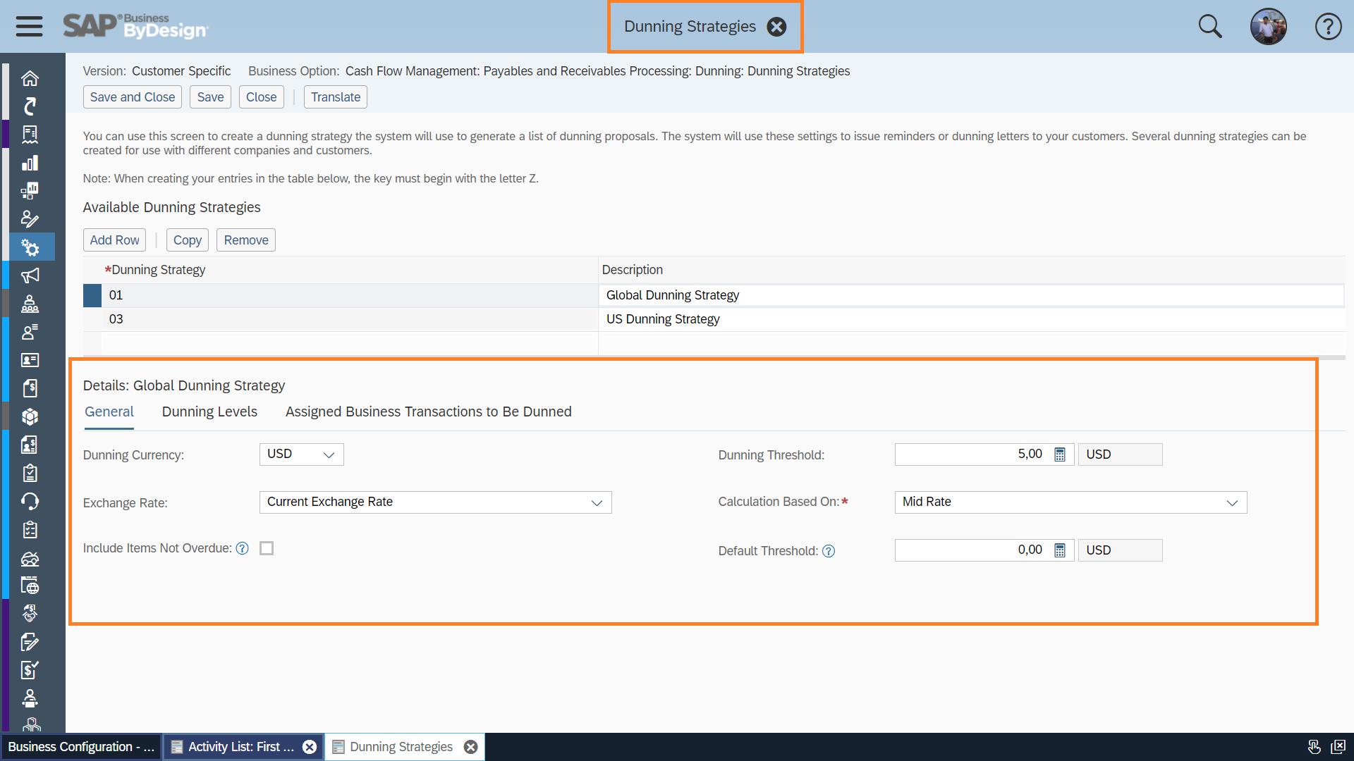 Dunning in SAP Business ByDesign | SAP Blogs