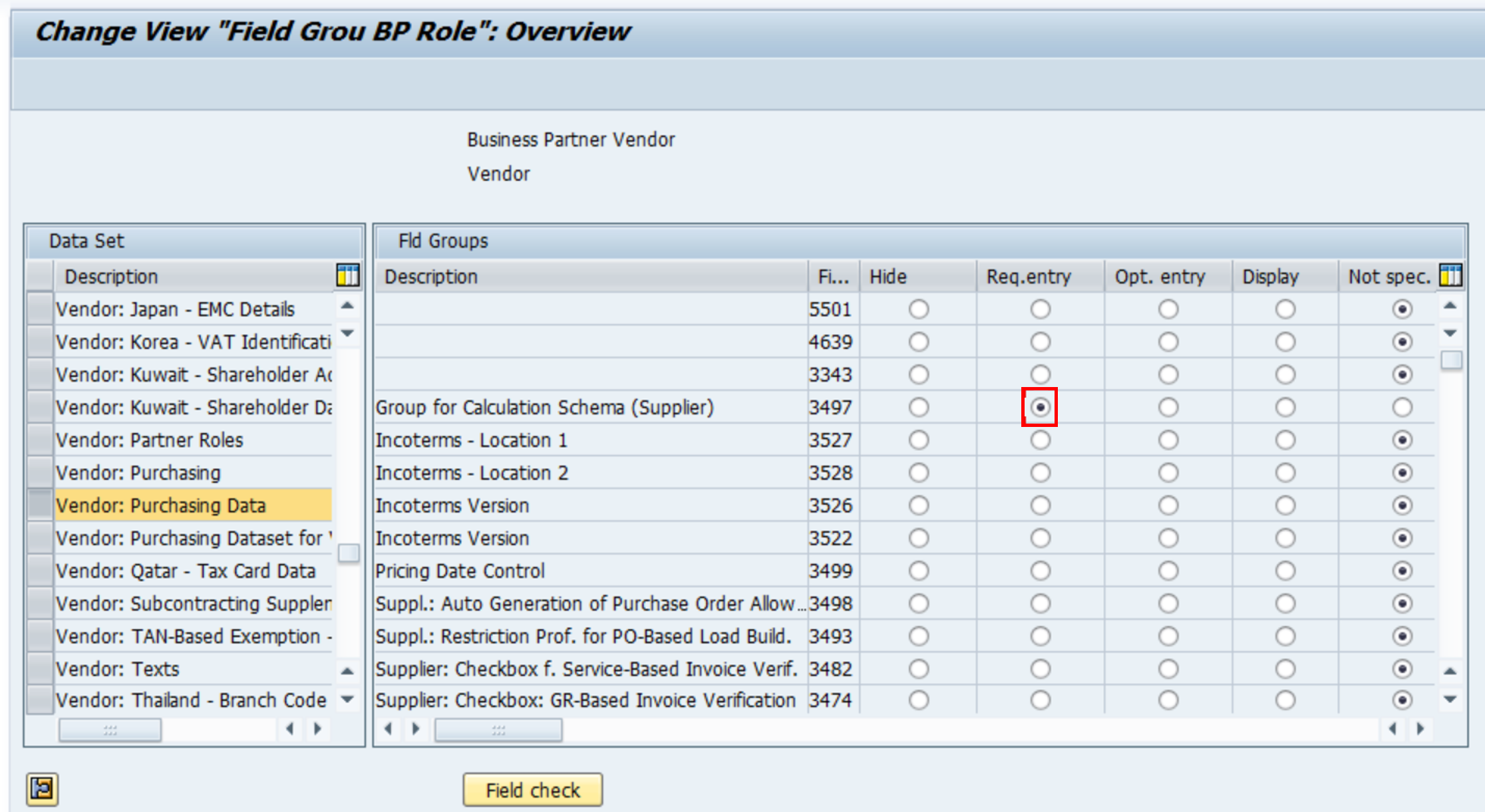 S/4 HANA – Do you have an issue in BP vendor field settings