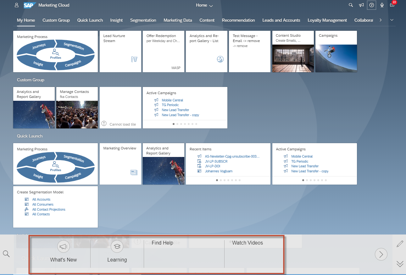 It's Here! The 1902 SAP Marketing Cloud Help Portal Page and