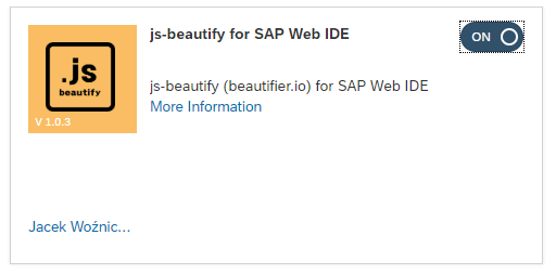 SAP Web IDE – js-beautify plugin | SAP Blogs