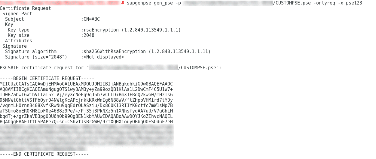 Creating arbitrary PSEs using 'sapgenpse' command-line tool  | SAP Blogs
