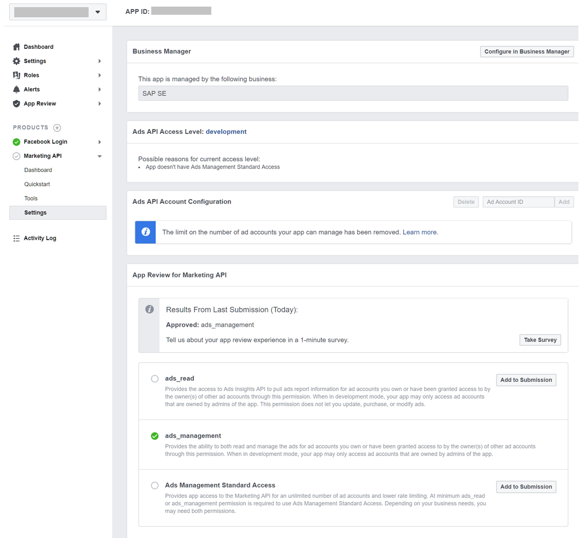 SAP Marketing Cloud: How to create a Facebook App for