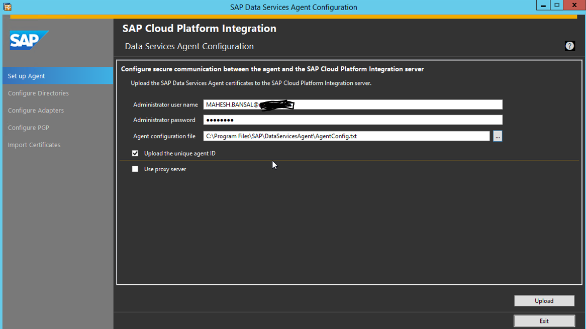 SAP HCI-DS Agent Installation and Configuration | SAP Blogs