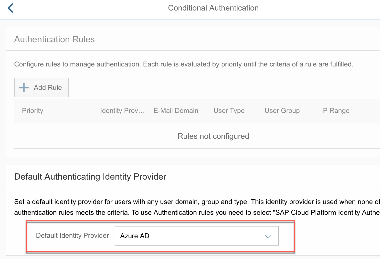 Integrating Identity Authentication service & Azure Active Directory