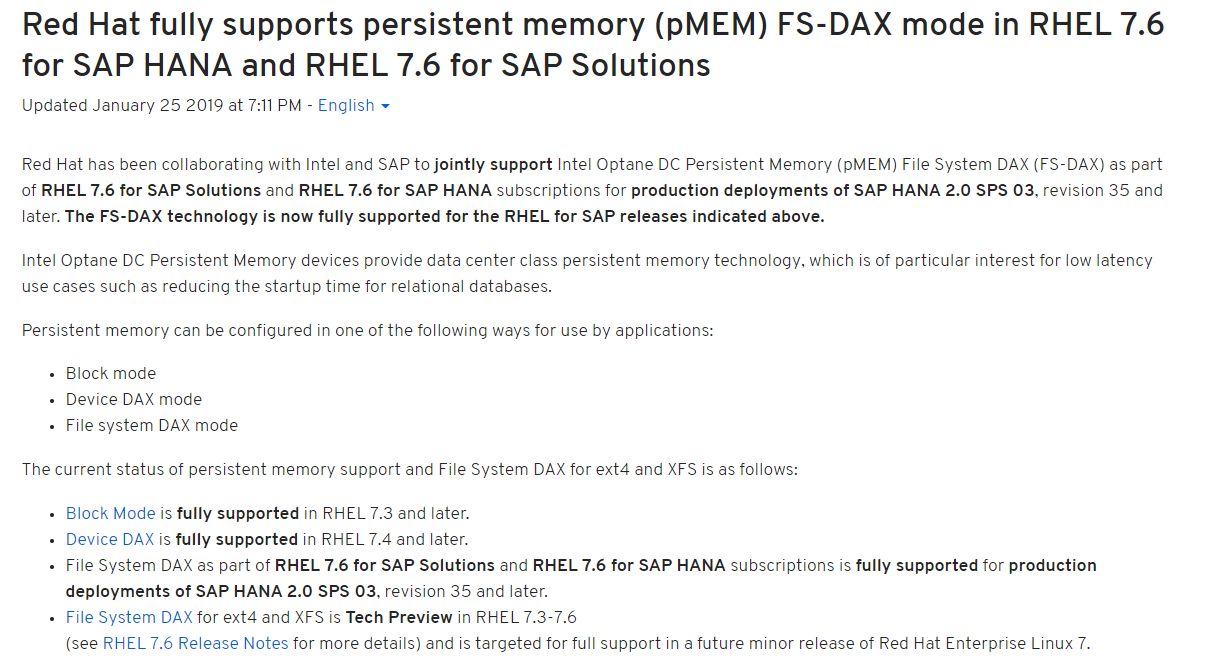 Let Us Be Persistent – HANA Adoption of Non Volatile Memory | SAP Blogs