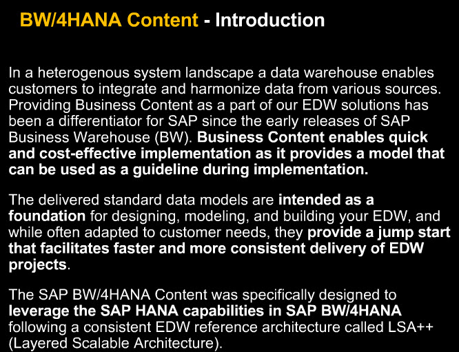 Speed up Your DW Implementation with SAP BW/4HANA Optimized