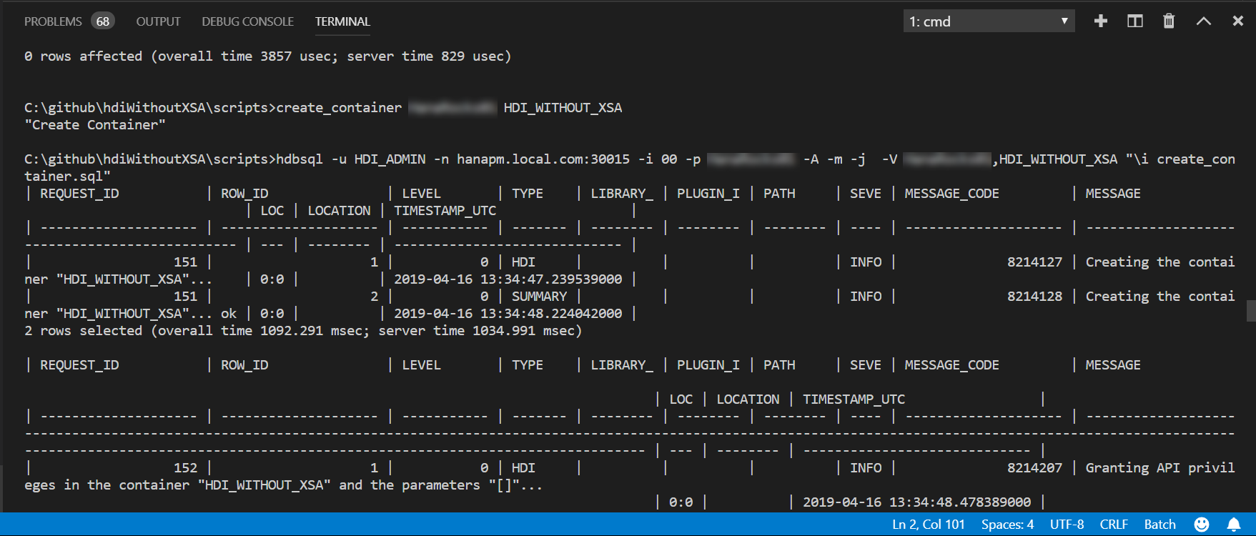 Developing with HANA Deployment Infrastructure (HDI) without XSA/CF