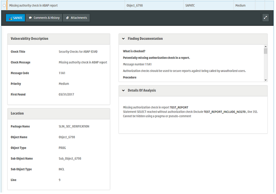 "Integration between ""SAP Code Vulnerability Analyzer"" and ""SAP"
