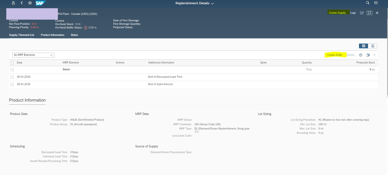 Demand Driven Replenishment in SAP S/4 HANA-Buffer