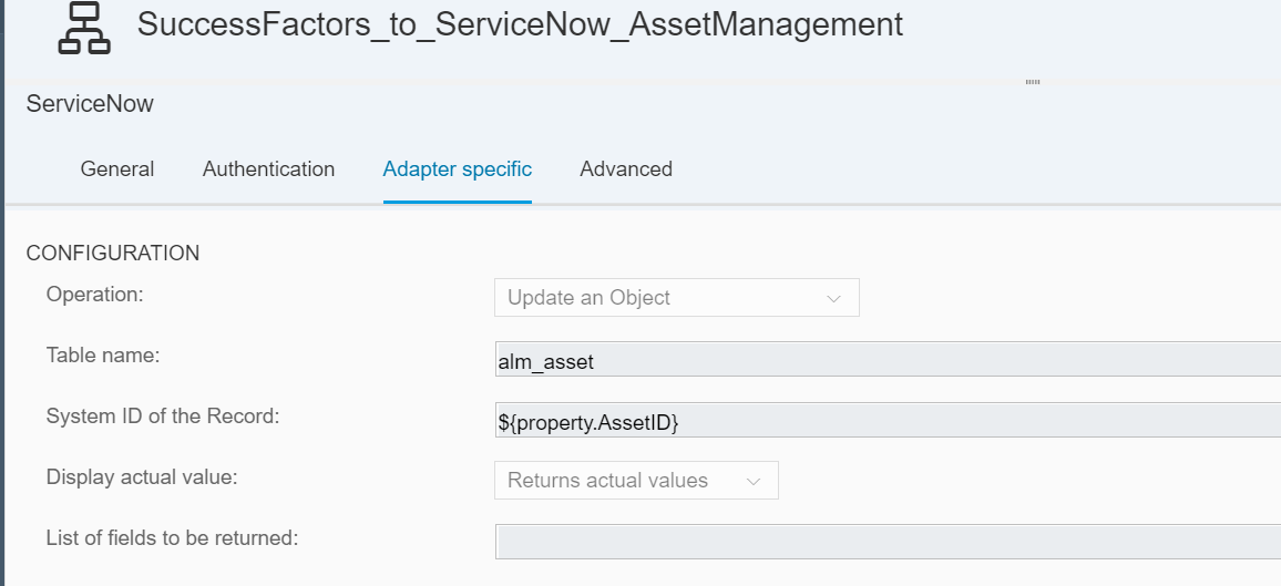 Integrating SuccessFactors with ServiceNow Asset Management