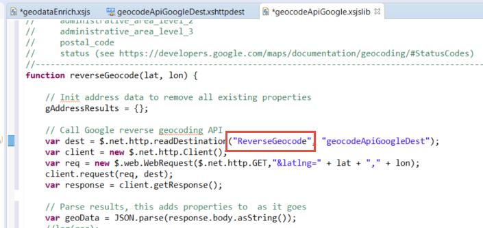 Reverse GeoCode HANA Data with Google API | SAP Blogs
