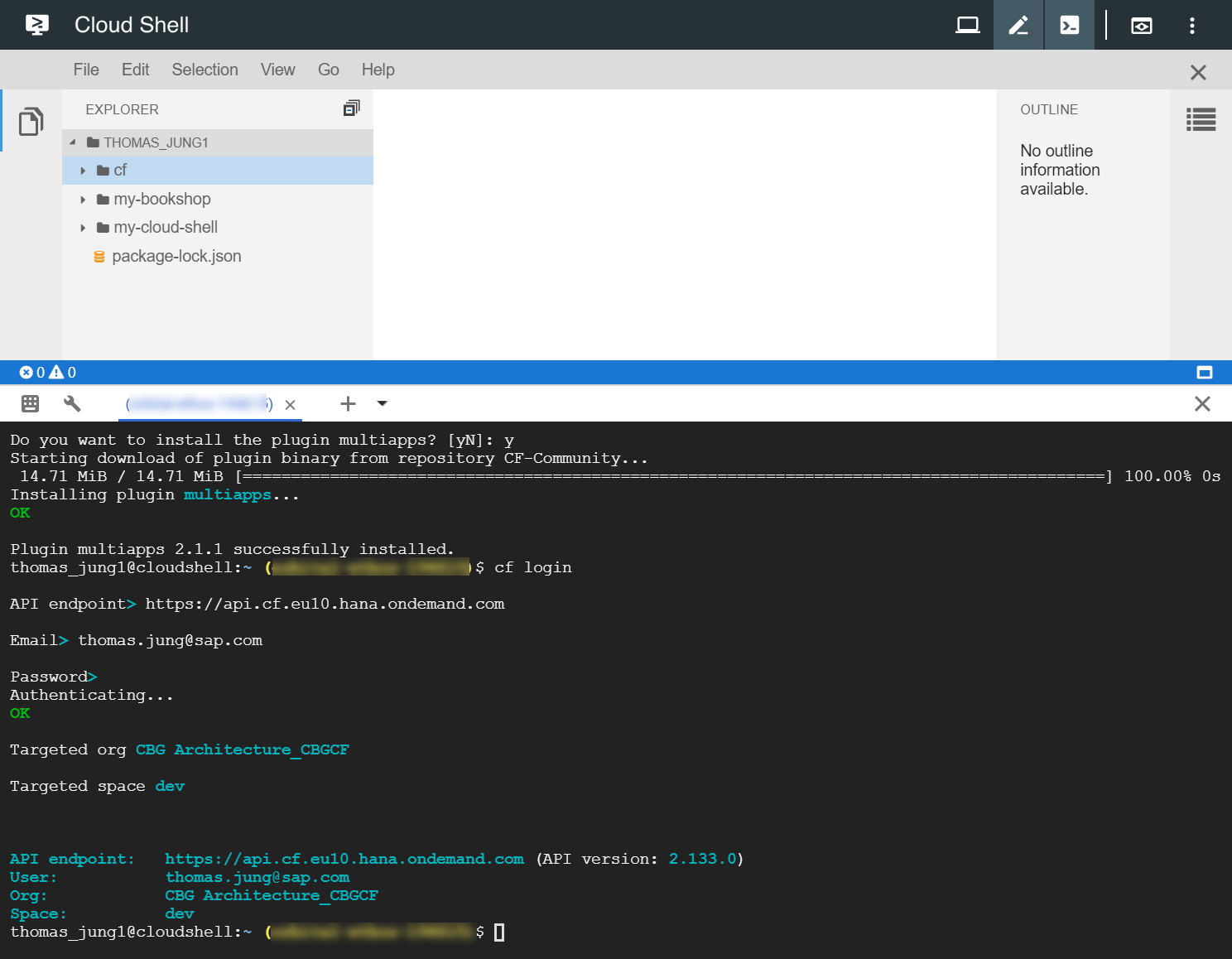 SAP Development Using Google Cloud Shell | SAP Blogs