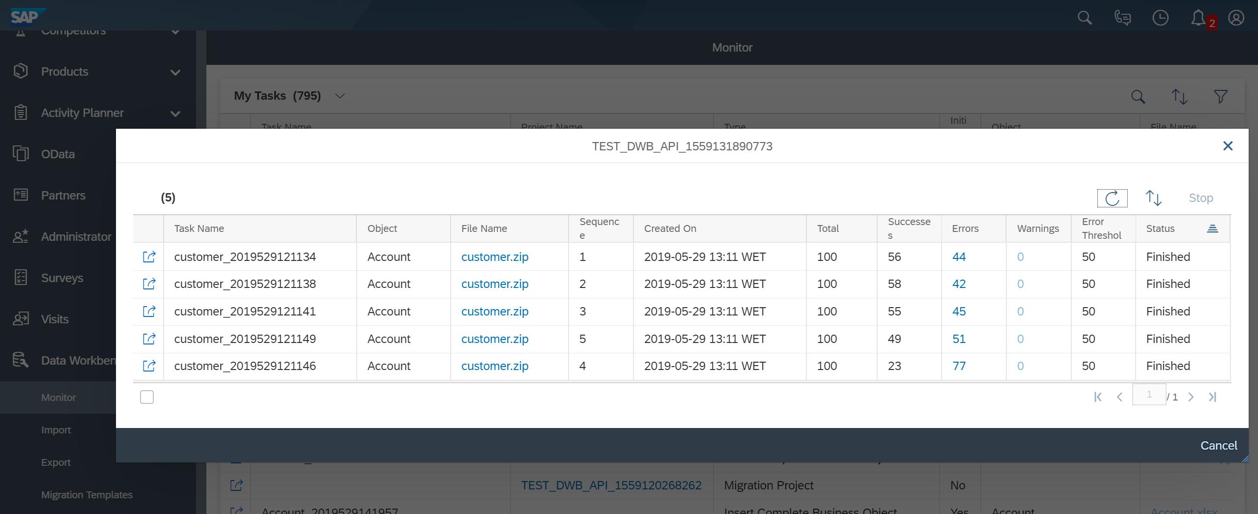 Consuming SAP Cloud for Customer Data Workbench REST API