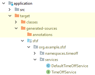 Application module with generated sources