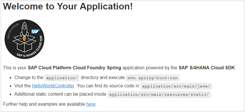 Create an application with SAP Cloud SDK to integrate with SAP