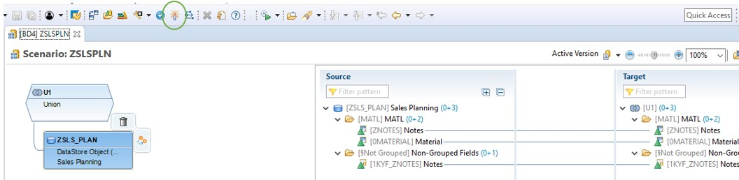 Free text integration in BW models/reports via input enabled