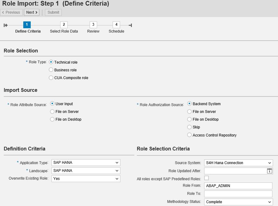 GRC Access Control 12 0 ARM setup for provisioning HANA DB users