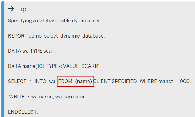 Break point for SELECT statement with Table Filter | SAP Blogs