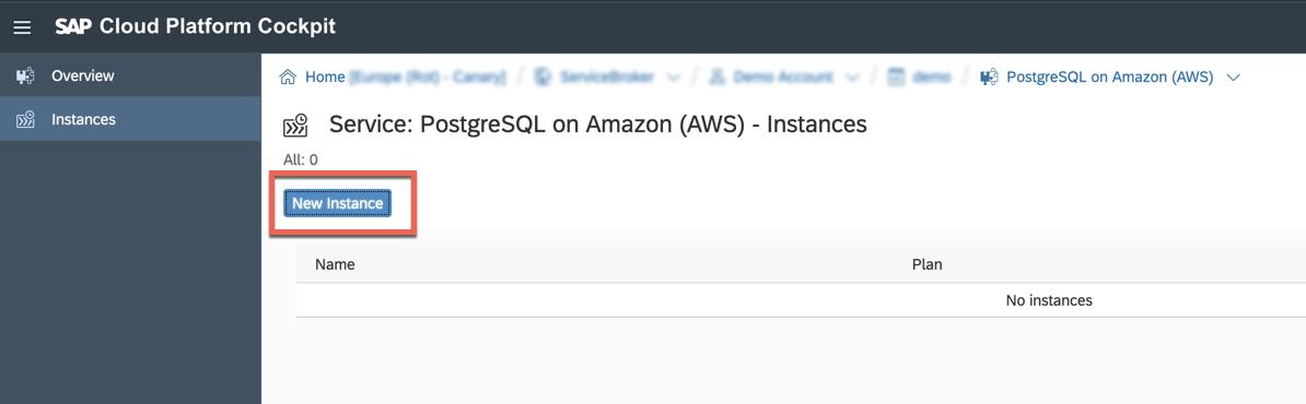 Amazon RDS PostgreSQL consumption on SAP Cloud Platform