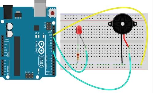 Controlling your buzzer and lights via SAPUI5 – Arduino Prototype