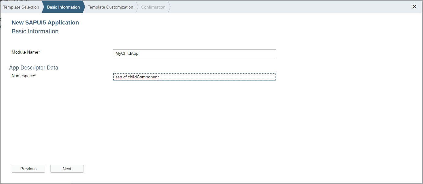 Integrate an UI5 component into another in the Cloud Foundry