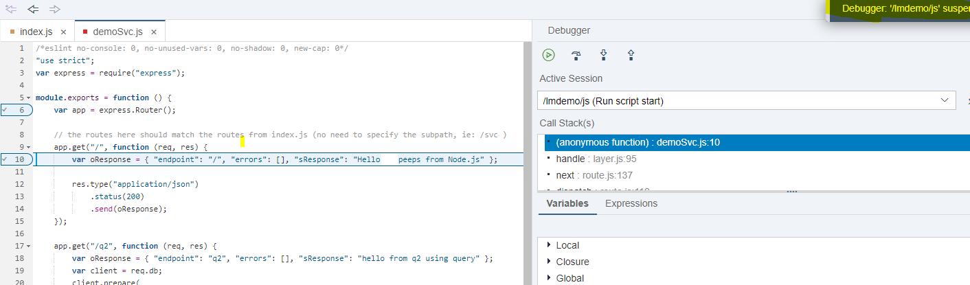 Debugging Node JS code in XSA | SAP Blogs