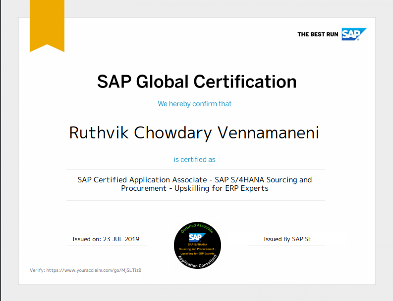 Sap Certification Download From Acclaim Sap Blogs